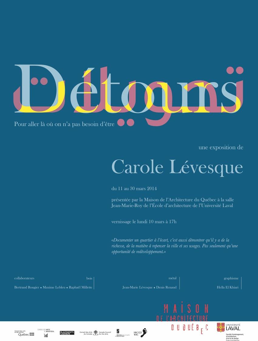 Détours: Exposition Carole Lévesque