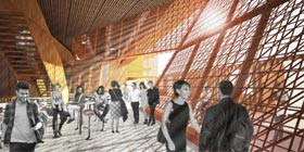 Inter-art comme plateforme d'art nomade, le cas sous l'autoroute Dufferin Montmorency