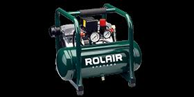 Compresseur à air - Peut fournir l'air comprimé pour la cloueuse et la clé-à-rochet pneumatiques.  Vient avec un tuyau d'environ 20 pieds (6m) de longueur.  Plutôt bruyant.