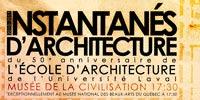 Les instantanés d'architecture, conférences ouvertes au public