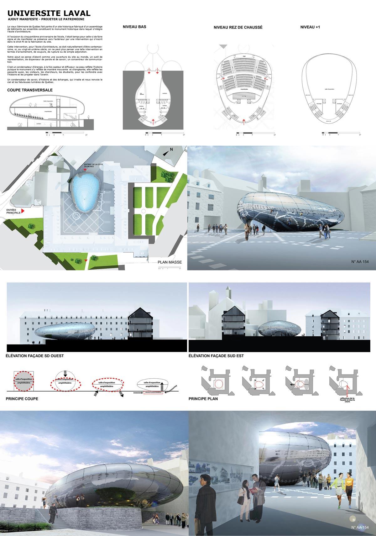 (Sans titre) (Paris, France), par Mention Spéciale - Odile Decq Benoit Cornette architectes urbanistes - Odile Decq (Architecte)