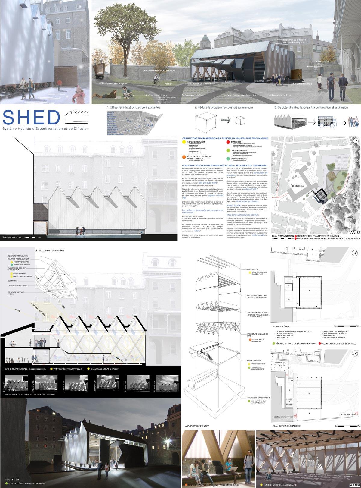 SHED  (Université Laval, Québec, Canada), par 1er prix ex aequo - Catherine Houle, Marianne Lapalme, Vanessa Poirier (Étudiantes)