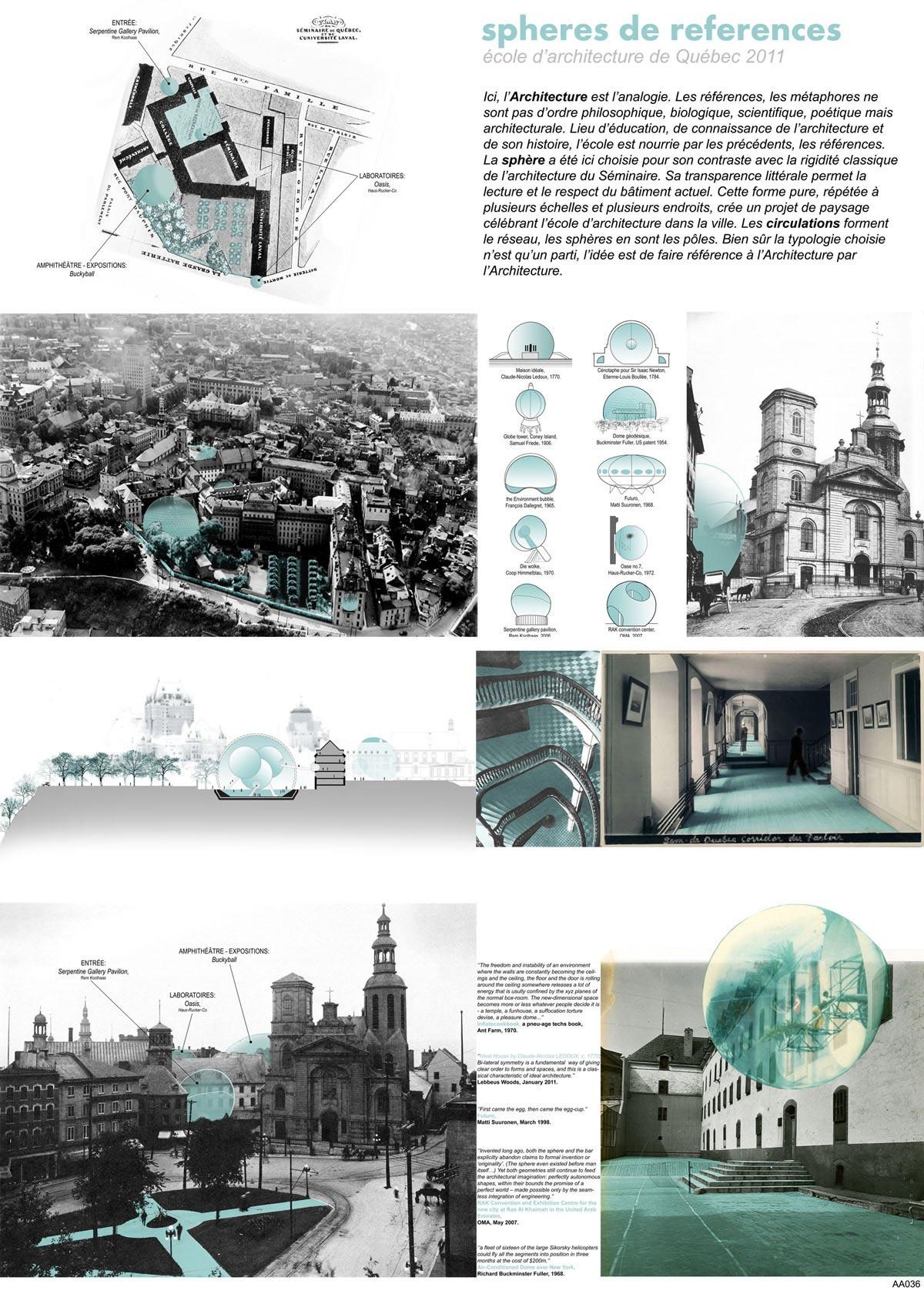 Sphères de référence (Montréal, Canada), par Mention Spéciale - bouchardboucher - Éric Boucher, Élisabeth Bouchard (Architectes)
